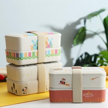 *Bamboo Fiber Bento Box | 竹纤维日式便当盒*