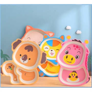 *Bamboo Fiber Children Tableware Set | 竹纤维儿童餐具套装*