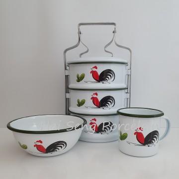 [Enamel] Rooster Set